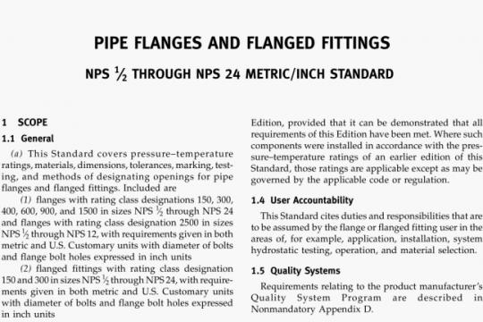 ASME B16.5-2013 pdf free