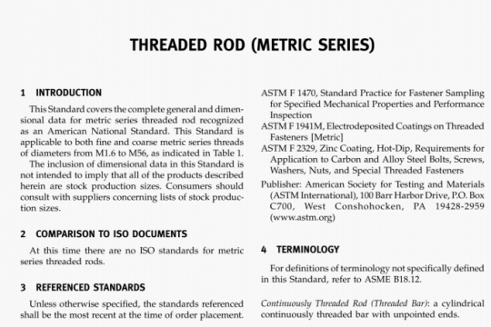 ASME B18.31-4M-2009 pdf free