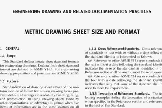ASME Y14.1M-2012 pdf free