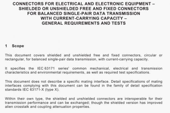 IEC 63171-2021 pdf free