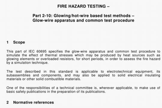 IEC 60695-2-10-2000 pdf free