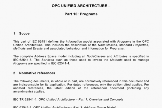 IEC 62541-10-2020 pdf free download