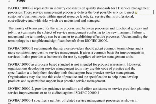 ISO/IEC 20000-2-2005 pdf free