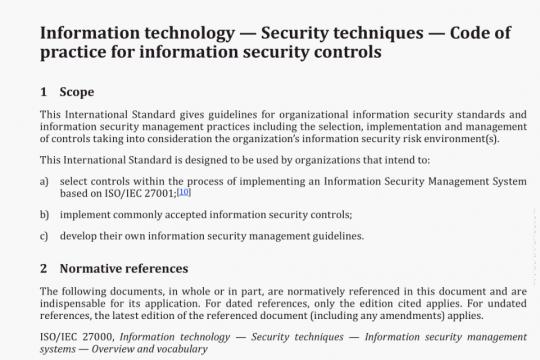 ISO/IEC 27002-2013 pdf download